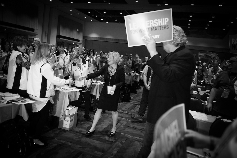 during the 2015 provincial election in Calgary, Alberta, April 17, 2015. Photograph by Todd Korol