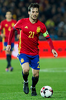 Spain's David Silva  during the match of European qualifying round between Spain and Macedonia at Nuevo Los Carmenes Stadium in Granada, Spain. November 12, 2016. (ALTERPHOTOS/Rodrigo Jimenez)