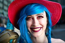 July 21, 2017 - San Diego, California, U.S. - SHAYLA JENNINGS of Walnut dressed as Jinx from League of Legends at Comic-Con. (Credit Image: © K.C. Alfred/San Diego Union-Tribune via ZUMA Wire)
