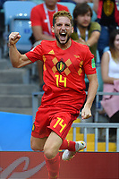 Torjubel Dries MERTENS (BEL) nach Tor zum 1-0, Jubel,Freude,Begeisterung,, Aktion,Einzelbild,angeschnittenes Einzelmotiv,Halbfigur,halbe Figur. Belgien (BEL) - Panama (PAN) 3-0, Vorrunde, Gruppe G, Spiel 13, am 18.06.2018 in SOTSCHI,Fisht Olymipic Stadium. Fussball Weltmeisterschaft 2018 in Russland vom 14.06. - 15.07.2018. *** Torjubel Dries MERTENS BEL to gate 1 0 rejoicing delight action single picture cut single motive half figure half figure Belgium BEL Panama PAN 3 0 preliminary round Group G match 13 on 18 06 2018 in SOCHI Fisht Olymipic Stadium Football World Cup 2018 in Russia vom 14 06 15 07 2018