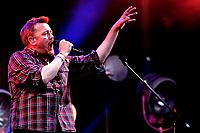 Elbow live  on The Pyramid Stage at Glastonbury Festival 2014, Worthy Farm, Pilton, Somerset, UK photo by David Court