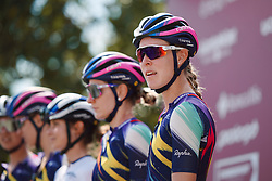 Hannah Barnes (GBR) at Strade Bianche - Elite Women 2020, a 136 km road race starting and finishing in Siena, Italy on August 1, 2020. Photo by Sean Robinson/velofocus.com