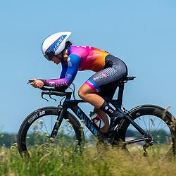 EMMEN (NED) June 16: <br />CYCLING <br />Dutch Nationals Time Trail Women Elite Lisa Mullenberg