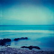 Long exposure from a beach on the Island Mallorca/ Baleates / Spain
