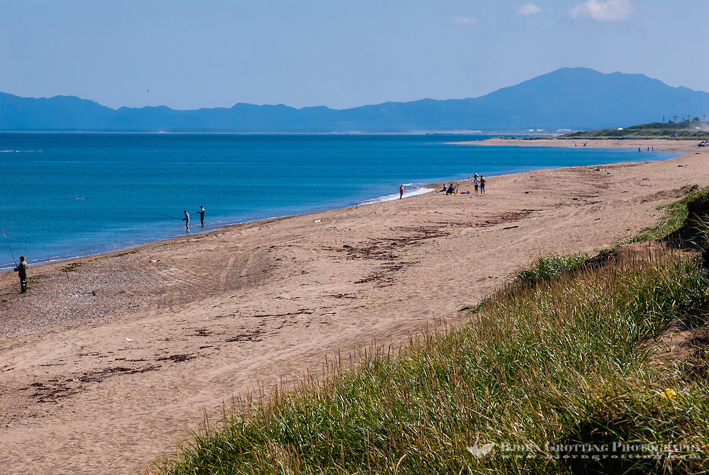 Russia, Sakhalin. Okhotskoye is a small village at the south east coast of Sakhalin, not far from Yuzhno-Sakhalinsk.