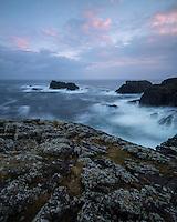 Turbulent seas and dramatic coastal cliffs at Butt Of Lewis, Isle of Lewis, Scotland