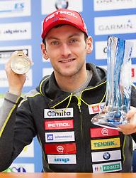 Third placed Jakov Fak at press conference of Slovenian biathlon team after the 46th IBU Biathlon World Championships in Nove Mesto na Morave in Czech Republic , on February 18, 2013 in Ljubljana, Slovenia. (Photo By Vid Ponikvar / Sportida)