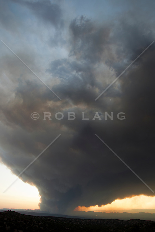 forest fire in Los Alamos, New Mexico
