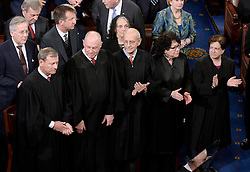 Justices of the Supreme Court attend U.S. President Donald J. Trump first address to a Joint Session of Congress on Tuesday, February 28, 2017 at the Capitol in Washington, DC. Photo by Olivier Douliery/ Abaca