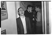 Piers Benn, Early morning party. Western Rd. Oxford. 1 May 1983.