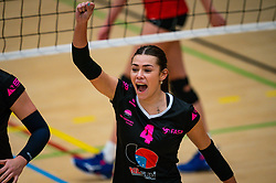 Now Rahangmetan of Fast in action during the league match Laudame Financials VCN - FAST on January 23, 2021 in Capelle aan de IJssel.
