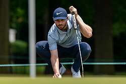 May 4, 2019 - Charlotte, NC, U.S. - CHARLOTTE, NC - MAY 04:  Kyle Stanley places his ball on the 3rd green during the third round of the Wells Fargo Championship at Quail Hollow on May 4, 2019 in Charlotte, NC. (Photo by William Howard/Icon Sportswire) (Credit Image: © William Howard/Icon SMI via ZUMA Press)