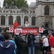 London,England,UK : 27th June 2016 : Over ten thousands supporter attends to KeepCorbyn protest against coup and Build our movement against growing of fascism and Tory Brexit failure we demand a general election and the future of young people is not for old men to decided at Parliament Square, London,UK. photo by See Li