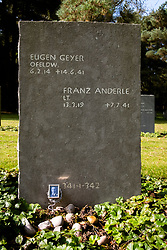 A small black and white Photo sits at the bottom of the headstone marking the last resting place of Eugen Geyer and Franz Andele. Both were members of the German Luftwaffe and are buried in the German Military Cemetery at Cannock Chase in Staffordshire which contains almost 5000 burials from both the first and second world wars of German and Austrian nationals and a small number of Ukrainians<br /> <br /> 17 September 2020<br /> <br /> www.pauldaviddrabble.co.uk<br /> All Images Copyright Paul David Drabble - <br /> All rights Reserved - <br /> Moral Rights Asserted -