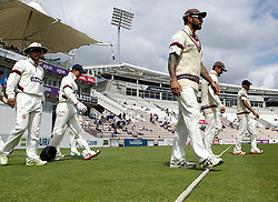 Somerset walk out at the Ageas Bowl for Day Three of their game with Hampshire - Photo mandatory by-line: Robbie Stephenson/JMP - Mobile: 07966 386802 - 23/06/2015 - SPORT - Cricket - Southampton - The Ageas Bowl - Hampshire v Somerset - County Championship Division One