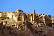 Remains of the Süleyman Mosque in the ancient citadel of Hasankeyf on the cliffs above the Tigris, Turkey 1 .<br /> <br /> If you prefer to buy from our ALAMY PHOTO LIBRARY  Collection visit : https://www.alamy.com/portfolio/paul-williams-funkystock/hasankeyf-turkey.html<br /> <br /> Visit our PHOTO COLLECTIONS OF TURKEY HISTOIC PLACES for more photos to download or buy as wall art prints https://funkystock.photoshelter.com/gallery-collection/Pictures-of-Turkey-Turkey-Photos-Images-Fotos/C0000U.hJWkZxAbg