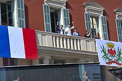 July 18, 2018 - Nice, France - Hugo Lloris (capitaine de l equipe de france de football) et sa femme - Christian Estrosi (maire de Nice) - Christophe Josse  (Credit Image: © Panoramic via ZUMA Press)