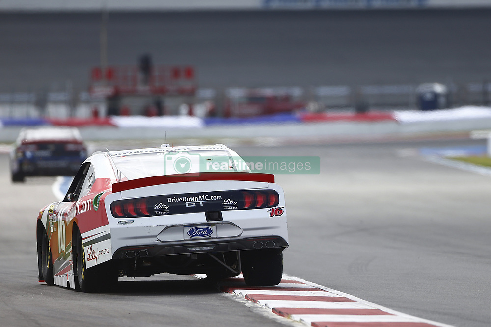 September 27, 2018 - Concord, North Carolina, United States of America - Ryan Reed (16) races down the back straightaway during practice the Drive for the Cure 200 at Charlotte Motor Speedway in Concord, North Carolina. (Credit Image: © Chris Owens Asp Inc/ASP via ZUMA Wire)
