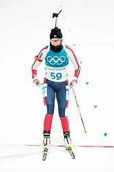 February 12, 2018 - Pyeongchang, SOUTH KOREA - 180212  Ingrid Landmark Tandrevold of Norway competes in the Women's Biathlon 10km Pursuit during day three of the 2018 Winter Olympics on February 12, 2018 in Pyeongchang..Photo: Jon Olav Nesvold / BILDBYRN / kod JE / 160156 (Credit Image: © Jon Olav Nesvold/Bildbyran via ZUMA Press)