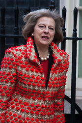 London, March 3rd 2015. Members of the cabinet arrive at 10 Downing Street for their weekly meeting. PICTURED: Home Secretary Theresa May