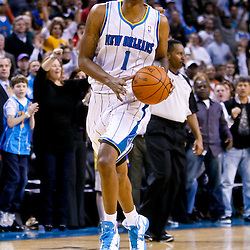 November 17, 2010; New Orleans, LA, USA; New Orleans Hornets small forward Trevor Ariza (1) during a game against the Dallas Mavericks at the New Orleans Arena. The Hornets defeated the Mavericks 99-97. Mandatory Credit: Derick E. Hingle