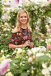 Rachel Riley at the RHS Chelsea Flower Show Press Day, Royal Hospital Chelsea, London England. 22 May 2017.<br /> Photo by Dominic O'Neill/SilverHub 0203 174 1069 sales@silverhubmedia.com