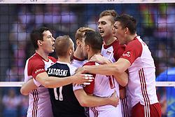 Team of Poland during the CEV Volleyball European Championship game Poland - Slovenia on August 30, 2017 in Krakow, Poland. (Photo by Krzysztof Porebski / Press Focus)