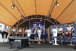 June 11, 2018 - Le Mans, FRANCE - 8 TOYOTA GAZOO RACING (JPN) TOYOTA TS050 HYBRID LMP1 SEBASTIEN BUEMI (CHE) KAZUKI NAKAJIMA (JPN) FERNANDO ALONSO (ESP) #7 TOYOTA GAZOO RACING (JPN) TOYOTA TS050 HYBRID LMP1 MIKE CONWAY (GBR) JOSE MARIA LOPEZ (ARG) KAMUI KOBAYASHI  (Credit Image: © Panoramic via ZUMA Press)