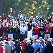 Ryder Cup 2016. Day Two. Jordan Spieth of the United States tees off at the sixth hole during the Ryder Cup at the Hazeltine National Golf Club on October 01, 2016 in Chaska, Minnesota.  (Photo by Tim Clayton/Corbis via Getty Images)