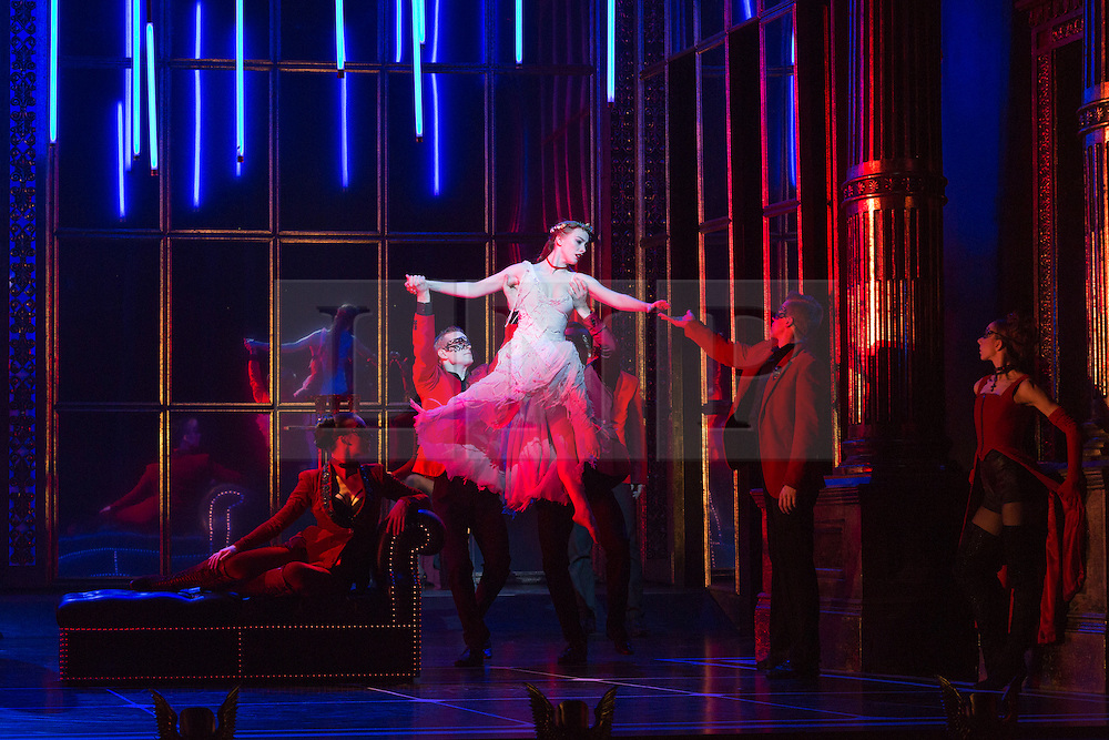 """© Licensed to London News Pictures. 04/12/2015. London, UK. Cordelia Braithwaite as Aurora. Matthew Bourne's """"Sleeping Beauty"""", a Gothic Romance, is performed at Sadler's Wells from 1 Dec 2015 - 24 Jan 2016. Photo credit: Bettina Strenske/LNP"""