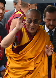 © Licensed to London News Pictures. 14/05/2012. City of London, UK The Dalai Lama arrives at St Paul's Cathedral today 14 may 2012 to be presented with the £1.1m Templeton annual prize in his first visit to the Cathedral. The award is for a living person who has 'made an exceptional contribution to affirming the spiritual dimension of life'.. Photo credit : Stephen Simpson/LNP