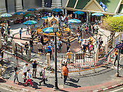 21 AUGUST 2015 - BANGKOK, THAILAND: Erawan Shrine in Bangkok reopened Wednesday, August 19, after more than 20 people were killed and more than 100 injured in a bombing at the shrine Monday, August 17, 2015. The shrine is a popular tourist attraction in the center of Bangkok's high end shopping district and is an important religious site for Thais. No one has claimed responsibility for the bombing.         PHOTO BY JACK KURTZ