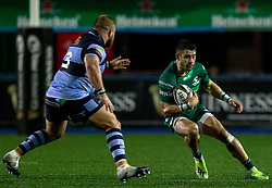 Tiernan O'Halloran of Connacht<br /> <br /> Photographer Simon King/Replay Images<br /> <br /> Guinness PRO14 Round 14 - Cardiff Blues v Connacht - Saturday 26th January 2019 - Cardiff Arms Park - Cardiff<br /> <br /> World Copyright © Replay Images . All rights reserved. info@replayimages.co.uk - http://replayimages.co.uk