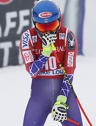 01.12.2017, Lake Louise, CAN, FIS Weltcup Ski Alpin, Lake Louise, Abfahrt, Damen, im Bild Mikaela Shiffrin (USA) // Mikaela Shiffrin of the USA reacts during the ladie's downhill of FIS Ski Alpine World Cup at the Lake Louise, Canada on 2017/12/01. EXPA Pictures © 2017, PhotoCredit: EXPA/ SM<br /> <br /> *****ATTENTION - OUT of GER*****