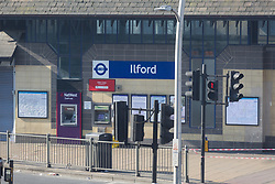 The front entrance of Ilford station remains closed where a man alleged by witnesses to be a drug dealer was stabbed to death outside Ilford Station following a fight outside a Paddy Power betting shop 100 yards away on Ilford High Road. London, February 27 2019.