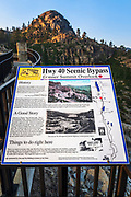 Interpretive sign on the Donner Summit Bridge, Truckee, California USA