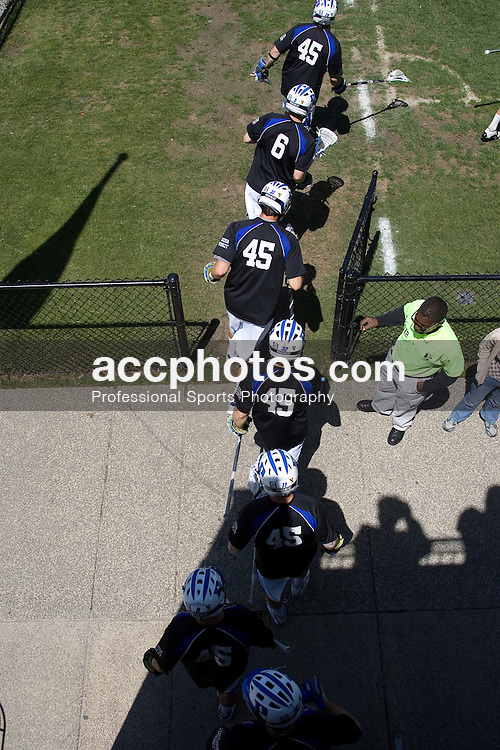 06 May 2007: Duke Blue Devils before a 19-6 victory over the Air Force Falcons at Koskinen Stadium in Durham, NC.