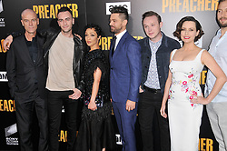 "(L-R) ""Preacher"" Cast - Pip Torrens, Joseph Gilgun, Ruth Negga, Dominic Cooper, Ian Colletti and Julie Ann Emery at AMC's ""Preacher"" Season 2 Premiere Screening held at the Theater at the Ace Hotel in Los Angeles, CA on Tuesday, June 20, 2017.  (Photo By Sthanlee B. Mirador) *** Please Use Credit from Credit Field ***"