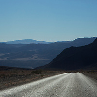 USA, California, Death Valley. Road to Death Valley National Park, California.