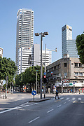 Kikar Hamoshavot the beginning of Allenby Street looking north, Tel Aviv, Israel