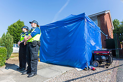 © Licensed to London News Pictures. 04/07/2018. Chester UK. Police this morning are continuing to search a house on Westbourne Road in Chester, believed to be the home of Lucy Letby. Letby a neonatal nurse has been arrested on suspicion of murdering eight babies & attempting to kill six more. Detectives are investigating as many as 17 deaths and 15 life-threatening incidents involving babies at the Countess of Chester Hospital's neonatal unit were Lucy Letby works. Photo credit: Andrew McCaren/LNP
