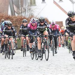 25-02-2017: Wielrennen: Vrouwen Omloop Het Nieuwsblad: Gent    <br />GENT (BEL) wielrennen  <br />Natalie van Gogh; Chanella Stougje