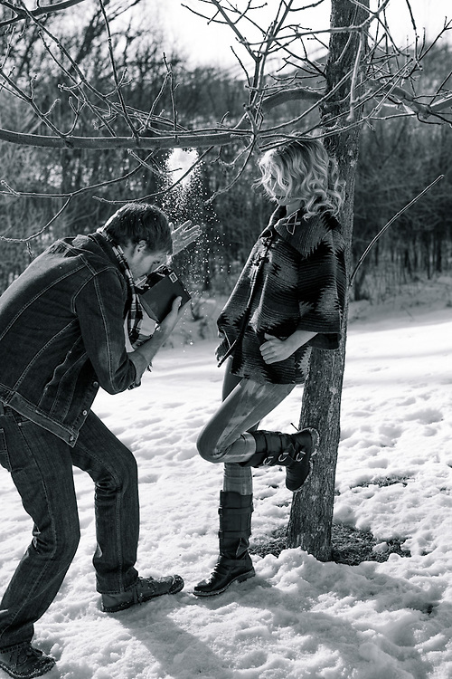 08 January 2013- Andrew Osborne and Joanna Kingsbury are photographed at Omaha Publications for Her Magazine.