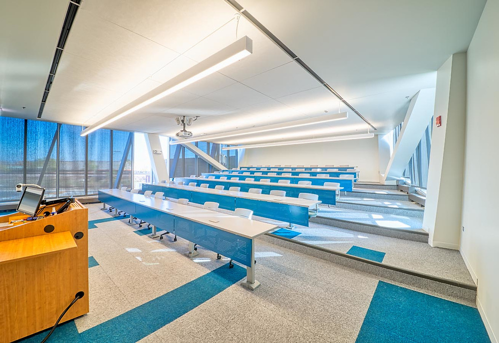 """Northeastern University, Chicago, IL. New campus building """"El Centro"""". Completed/Opened September 9th 2014. Exterior and Interior"""