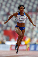Imani Lansiquot (Great Britain), 100 Metres Women, Round 1 Heat 6, during the 2019 IAAF World Athletics Championships at Khalifa International Stadium, Doha, Qatar on 28 September 2019.
