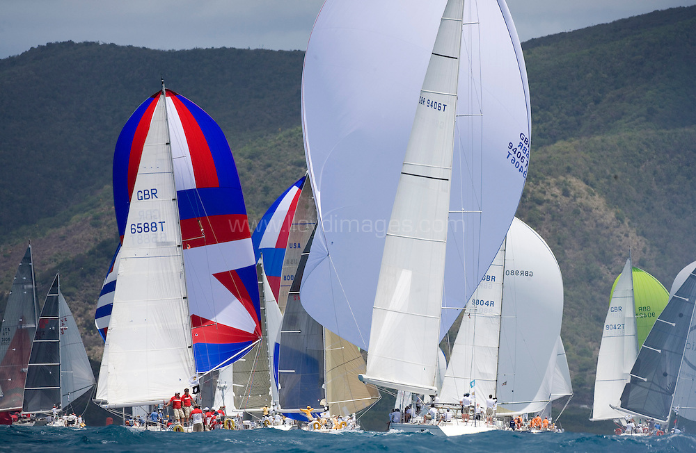 """The Stanford Antigua Race Week 2007.The 40th Antigua sailing week.29th April - 5th May 2007. Antigua. Pictures shows """"Nimrod"""" GBR9406 a Martin 80 racing downwind with the fleet today.Please credit all pictures: Lloyd Images..For further details contact Mark Lloyd .e:hello@lloydimages.com.t:+44 7970 798 011"""