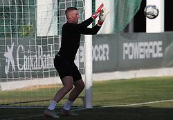 England goalkeeper Jordan Pickford during the training session at Ciudad Deportiva Luis del Sol, Seville.