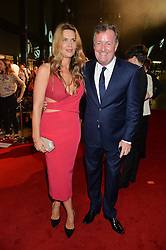 PIERS MORGAN and CELIA WALDEN at the GQ Men of The Year Awards 2016 in association with Hugo Boss held at Tate Modern, London on 6th September 2016.