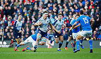 Rugby Union - 2019 Guinness Six Nations Championship - Scotland vs. Italy<br /> <br /> Jamie Ritchie of Scotland and Jayden Hayward of Italy at Murrayfield.<br /> <br /> COLORSPORT/LYNNE CAMERON