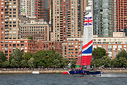 SailGP Team GBR. Race Day 2 Event 3 Season 1 SailGP event in New York City, New York, United States. 22 June 2019. Photo: Chris Cameron for SailGP. Handout image supplied by SailGP
